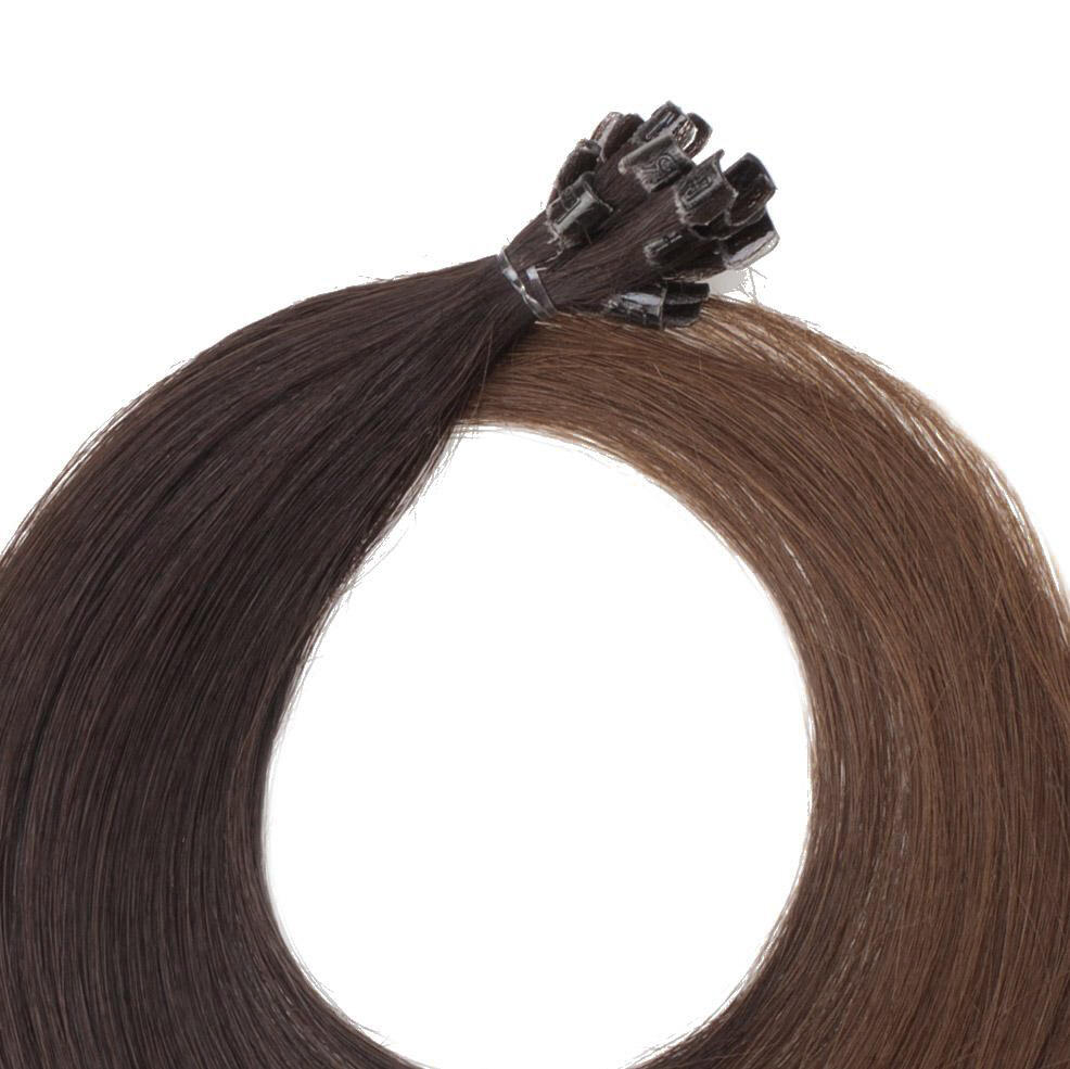 Nail Hair O2.3/5.0 Chocolate Brown Ombre 50 cm