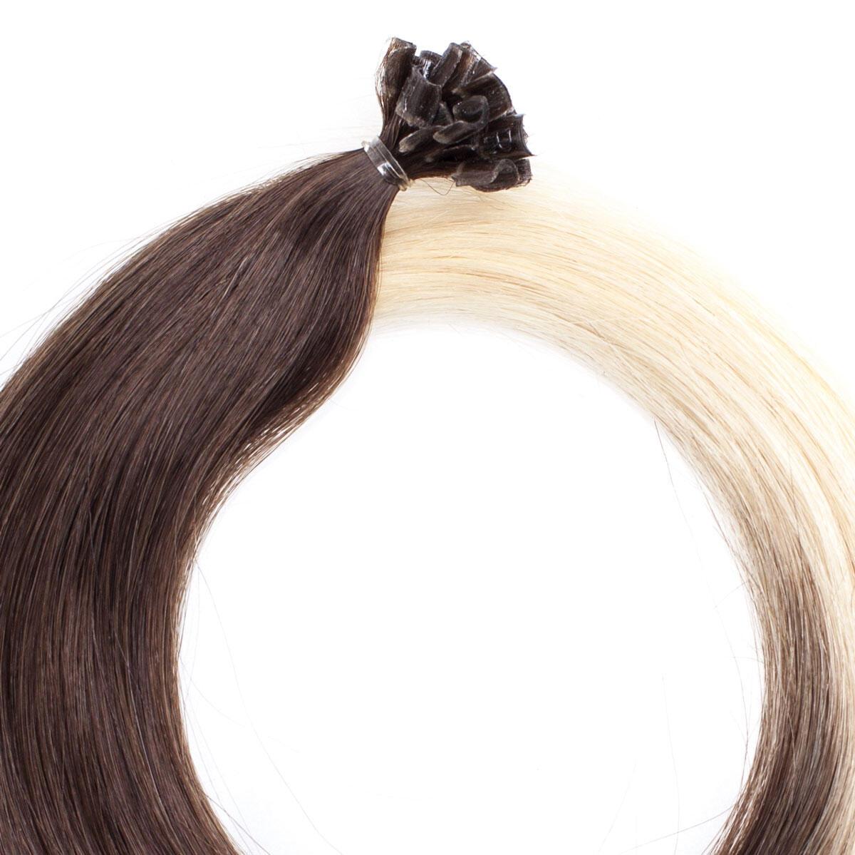 Nail Hair Premium O2.6/8.0 Dark Ash Blond Ombre 40 cm