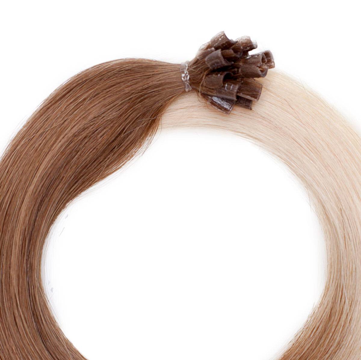 Nail Hair Premium O5.1/10.8 Medium Ash Blond Ombre 40 cm