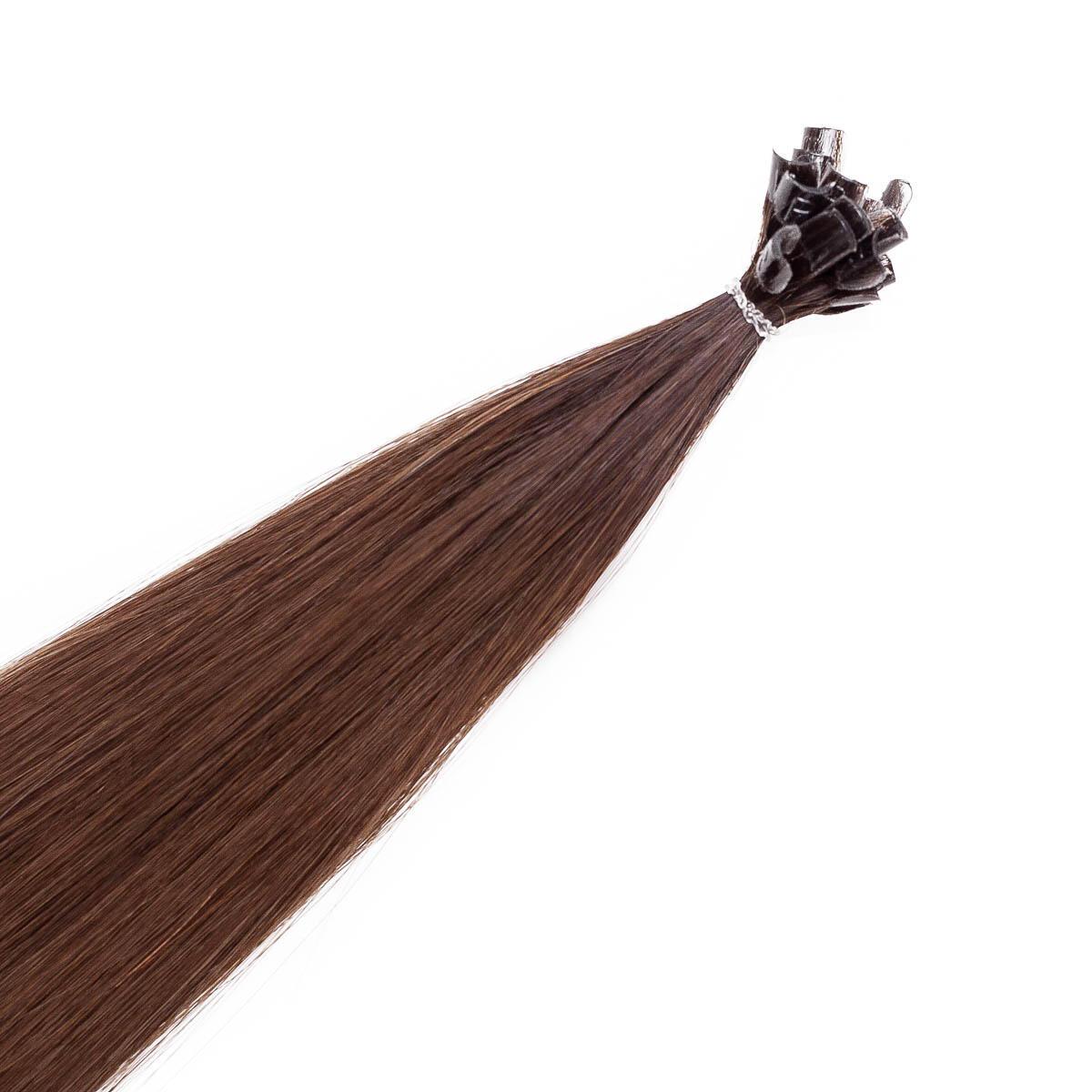 Nail Hair Premium R2.3/5.0 Chocolate Brown Root 50 cm
