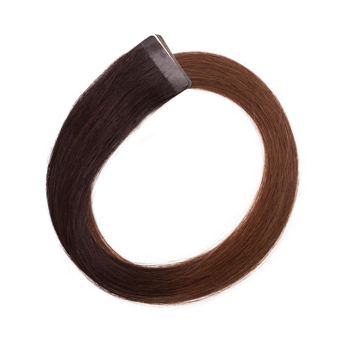 Quick & Easy Premium Glatt O2.3/5.0 Chocolate Brown Ombre 50 cm