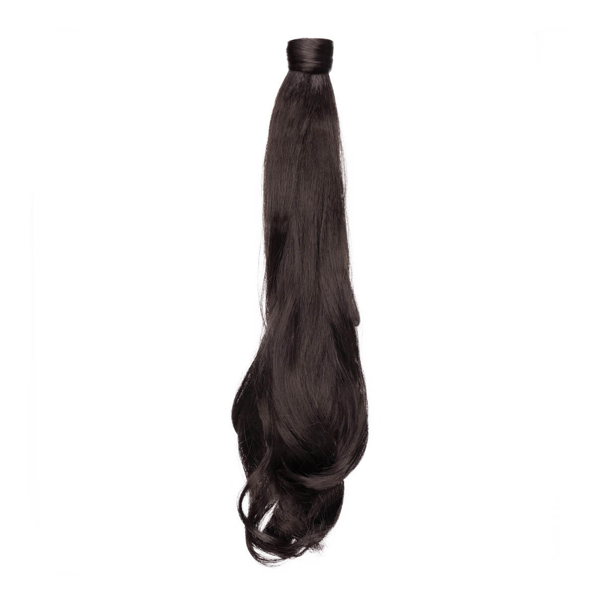 Clip-in Ponytail Synthetic Beach Wave 1.2 Black Brown 50 cm