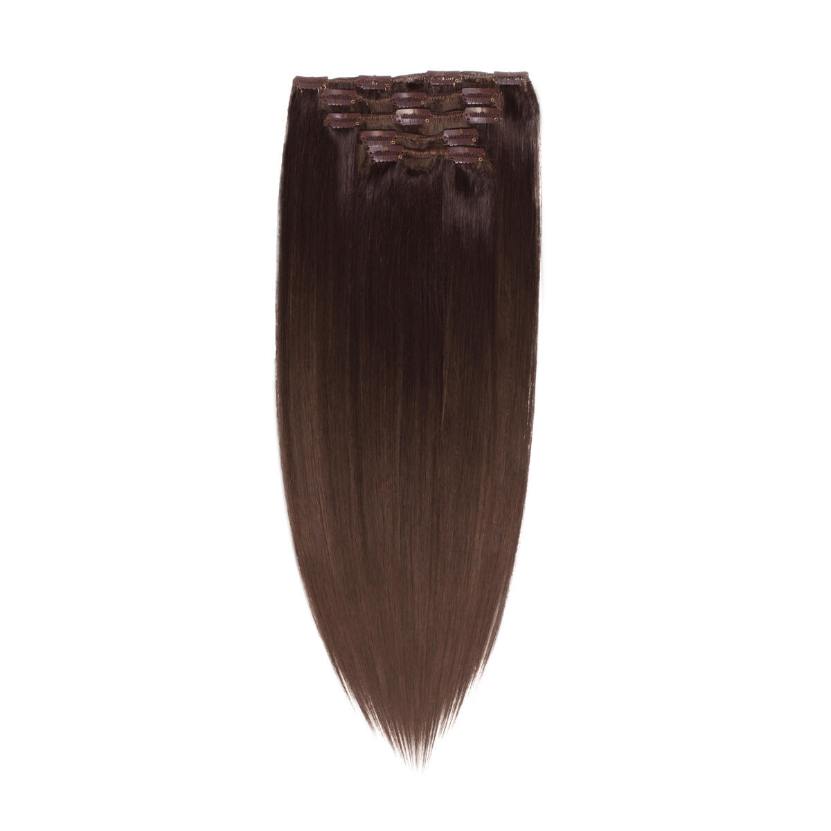 Clip-on set Synthetic 5 pieces 2.2 Coffee Brown 50 cm
