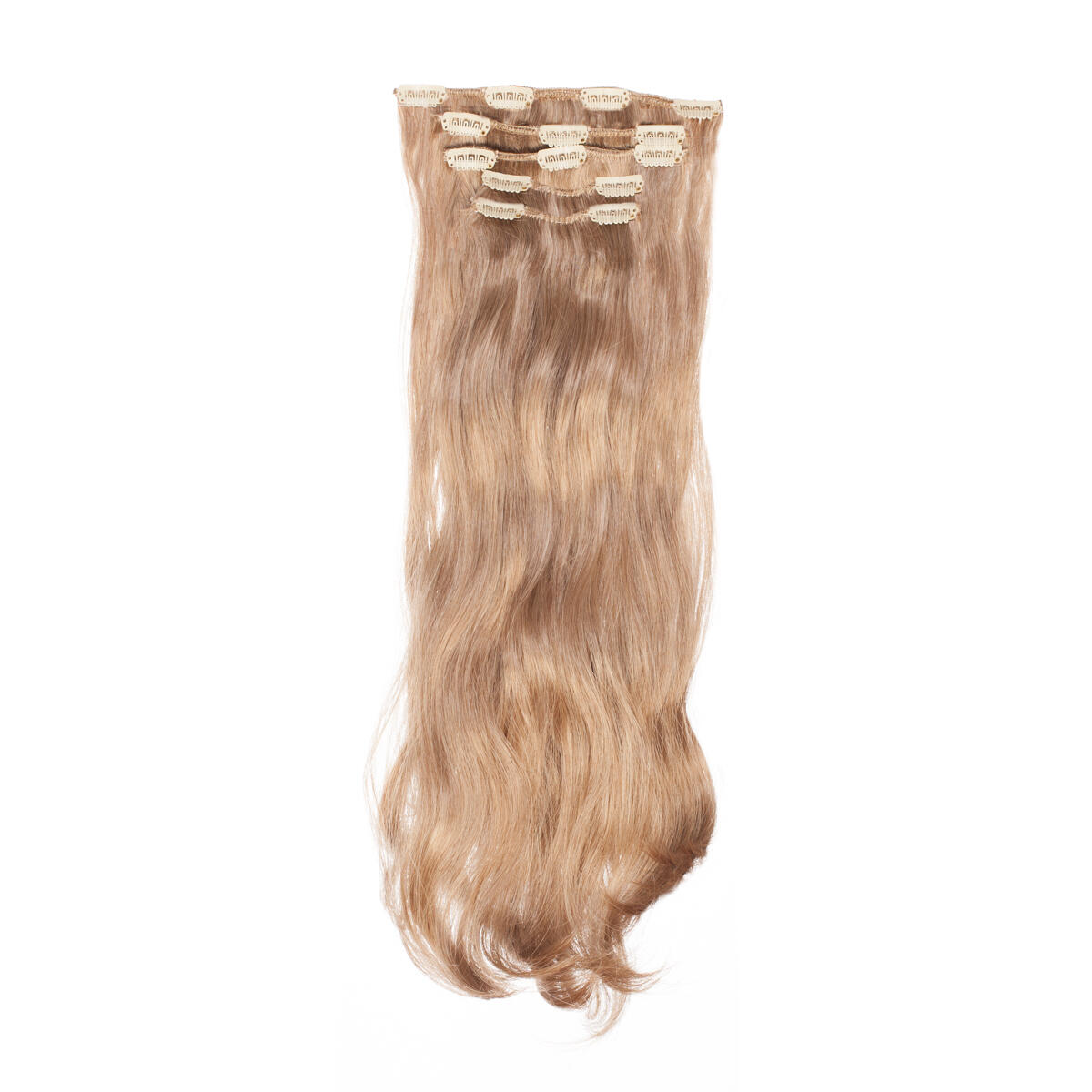 Clip-on Set Synthetic 5 pieces Beach Wave 4.1 Cendre Ash Blonde 50 cm