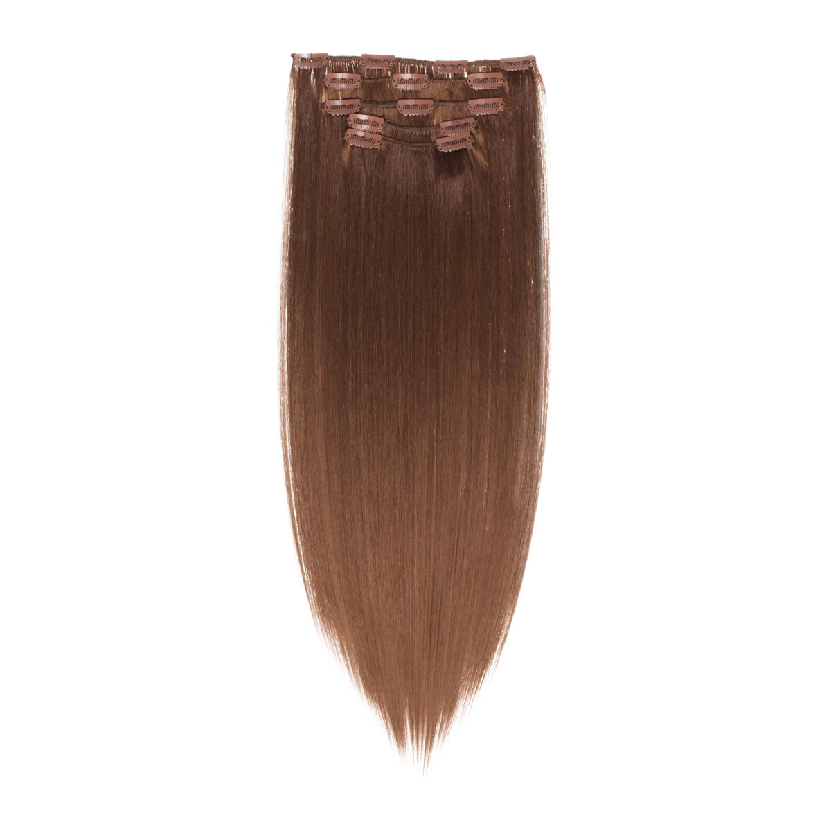 Clip-on set Synthetic 5 pieces 5.0 Brown 50 cm