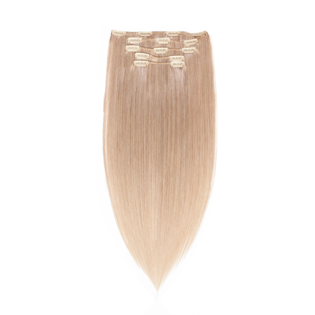 Clip-on Set Synthetic 5 pieces 9.6 Natural Ash Blonde 50 cm