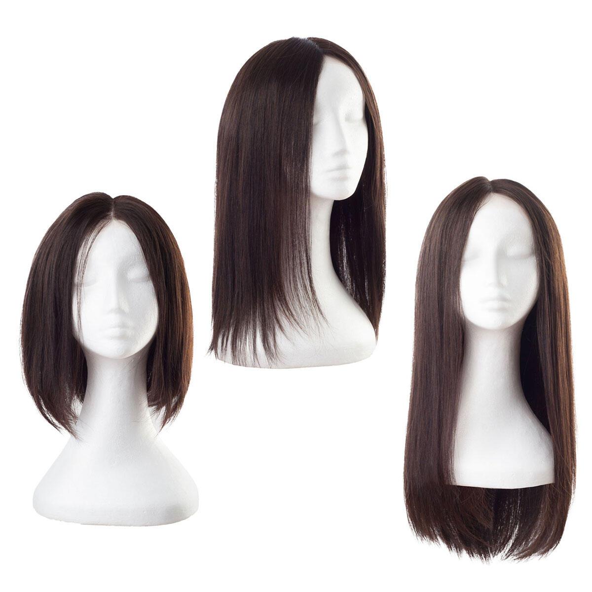 Lace Wig Human Hair 2.0 Dark Brown 55 cm