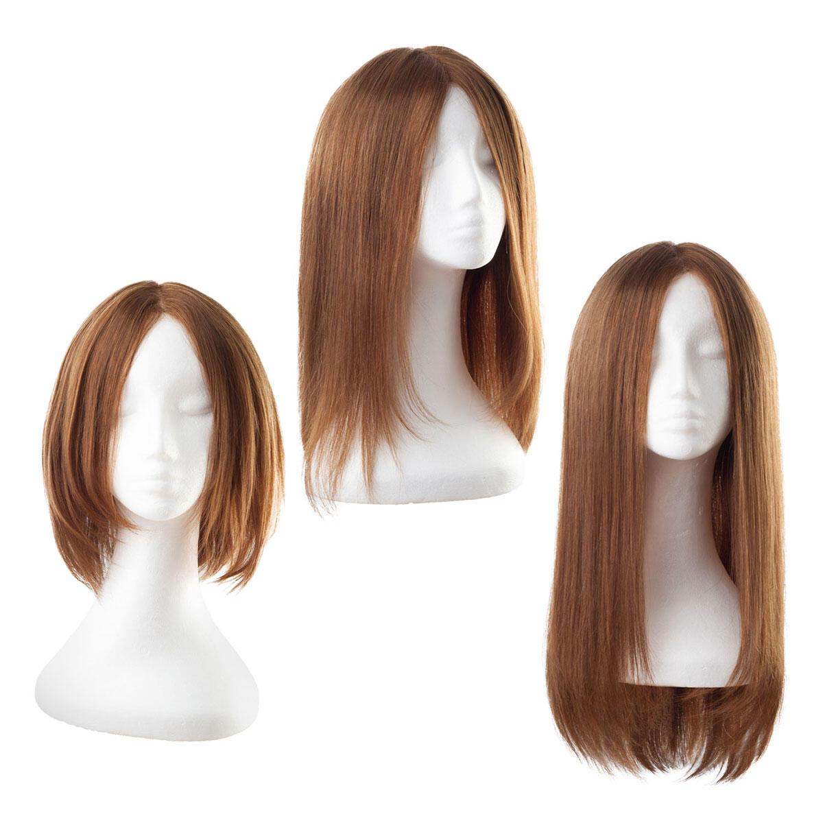Lace Wig Human Hair 5.0 Brown 30 cm