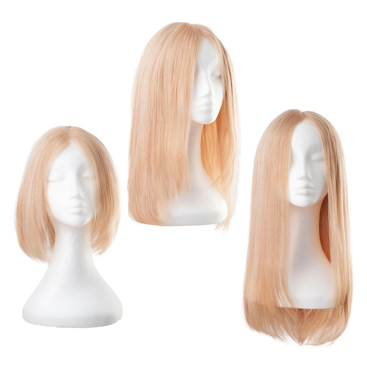 Lace Perücke Echthaar 7.5 Dark Blonde 30 cm