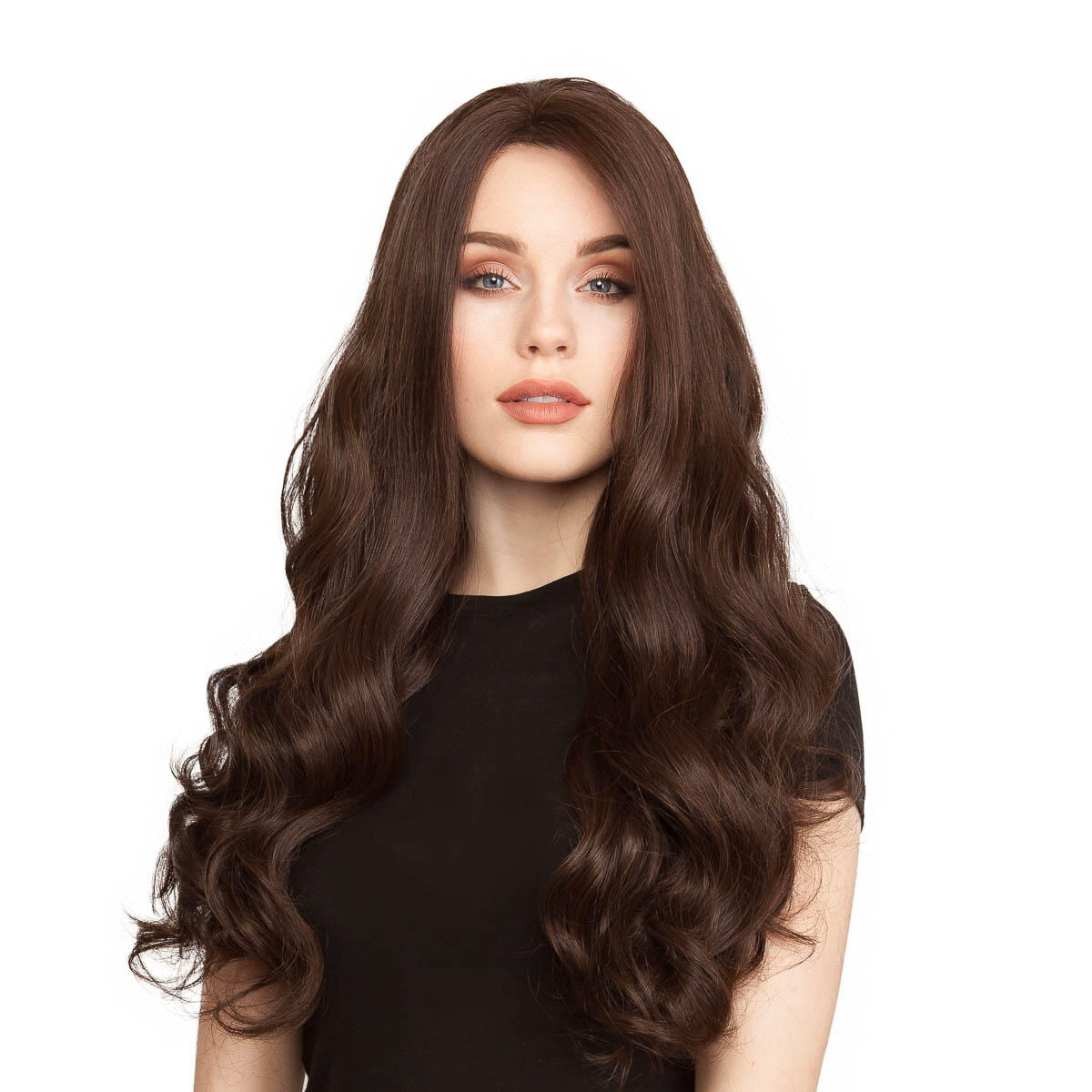 Lace Front Perücke Long Curly 2.2 Coffee Brown 60 cm