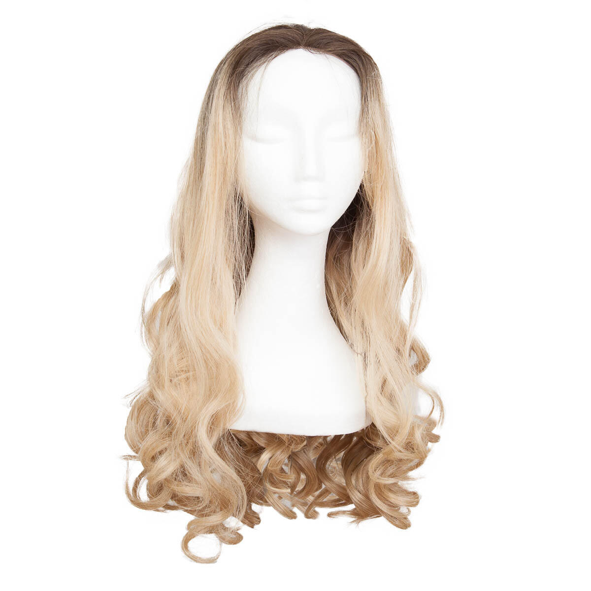 Lace Front Perücke Long Curly O2.3/9.0 Chocolate Brown/Scandinavian Blond 60 cm